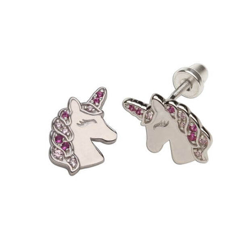 Earrings: Sterling Silver Unicorn