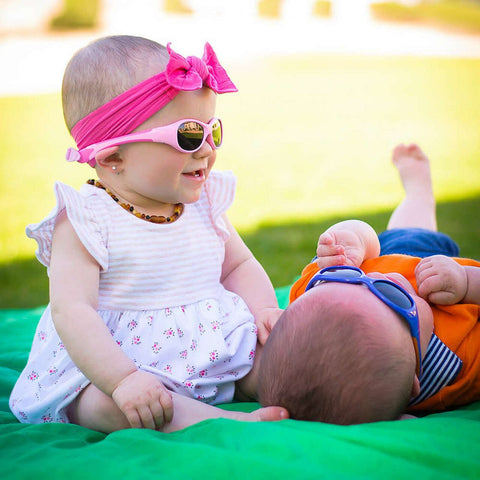 Real Shades Explorer Sunglasses for Babies - Ages 0+, Pink/Hot Pink
