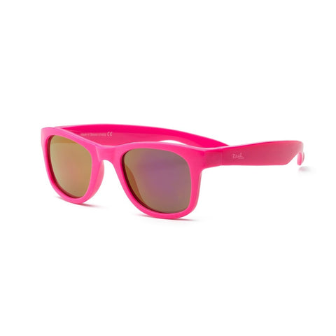 Real Shades Surf Flexible Frame Sunglasses for Kids 4+, Neon Pink