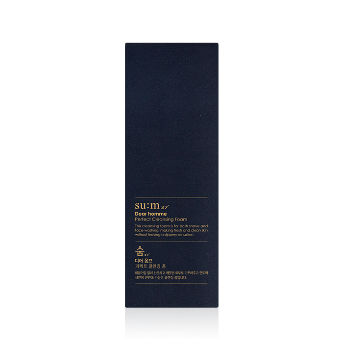 Su:m37 Dear Homme Perfect Cleansing Foam 160