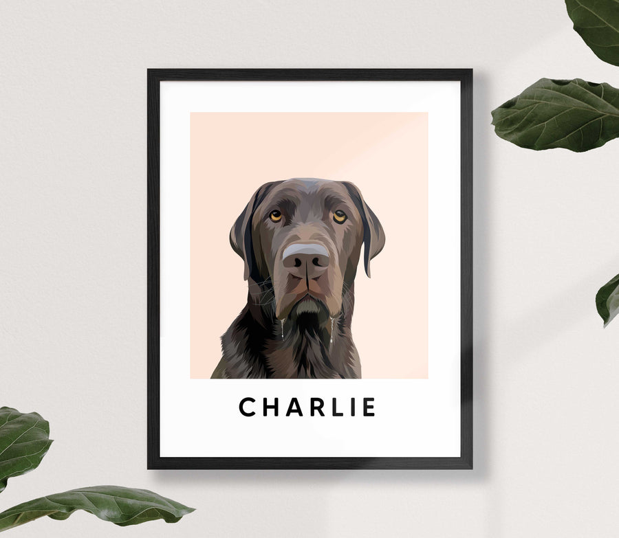 Framed Custom Pet Portrait