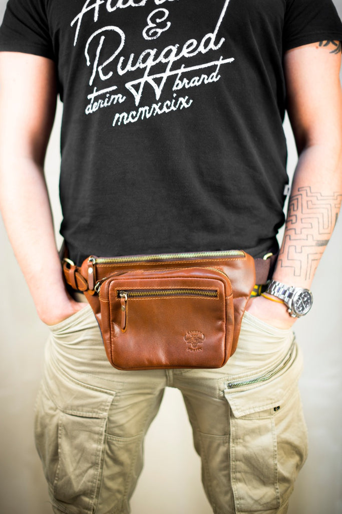 Old School Leather Cross bag - From Burity
