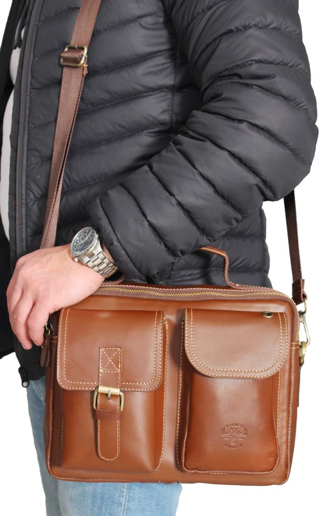Leather Laptop bag - From Burity