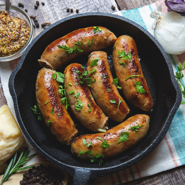 Beef, Bacon & Cheese Sausages