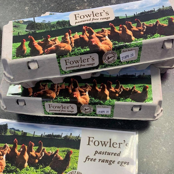 12 Free Range Eggs by Fowler's