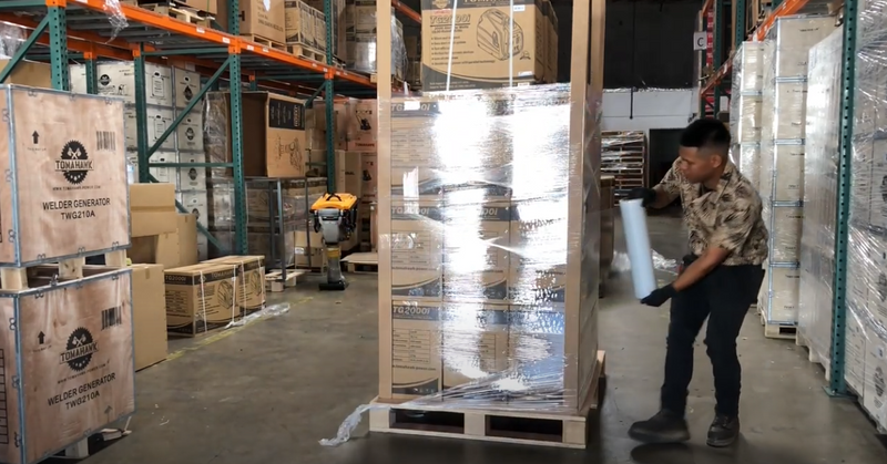 The Best Way To Safely Shrink Wrap A Freight Pallet