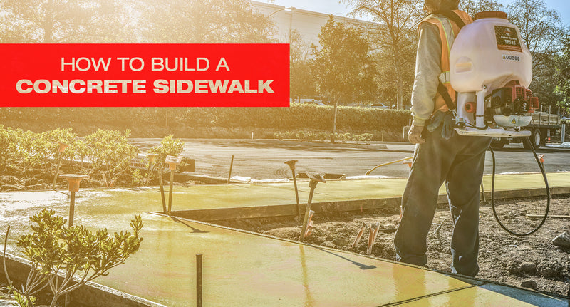 How to Build a Concrete Sidewalk with the Compaction Equipment