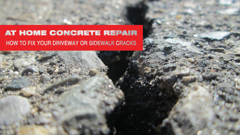 At Home Concrete Repair: How to Fix Your Driveway or Sidewalk Cracks