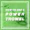 How to Use a Power Trowel on Concrete