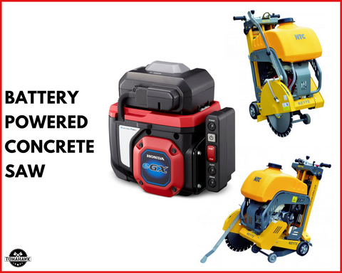 Battery Powered Concrete Saw