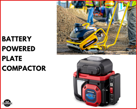 Tomahawk Power Battery Powered Plate Compactor