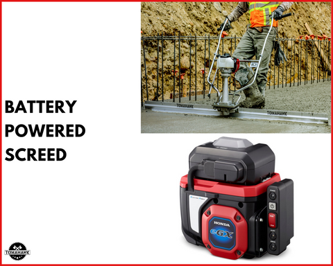 Tomahawk Power Battery Powered Screed
