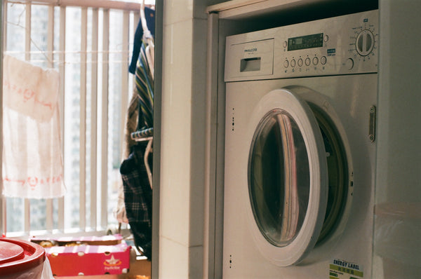 Laundry room with washer