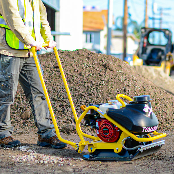 Tomahawk Power plate compactor for soil compaction.