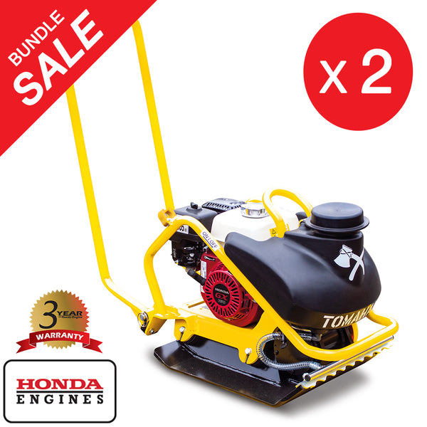 5.5 HP Honda Plate Compactor Tamper Asphalt Compaction Water Tank Bundle - Tomahawk Power