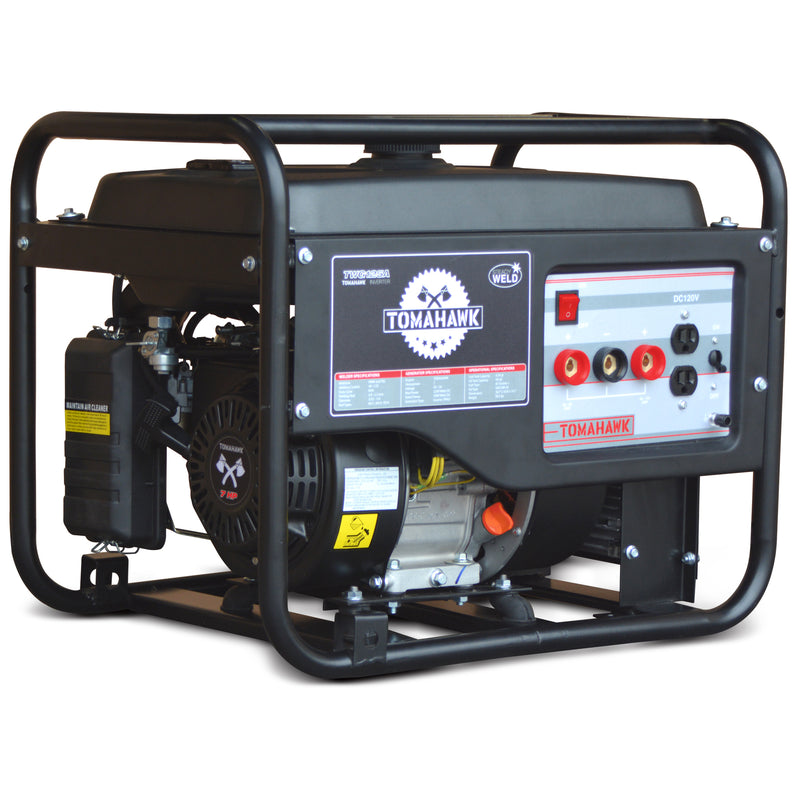 7 HP Gas Powered Portable 2,200 Watt Generator with 120 Amp Welder - Tomahawk Power