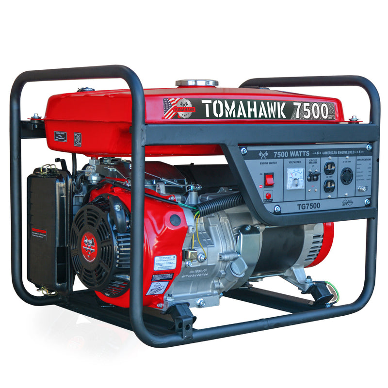 7500 Watt Gas Powered Portable Generator - Tomahawk Power