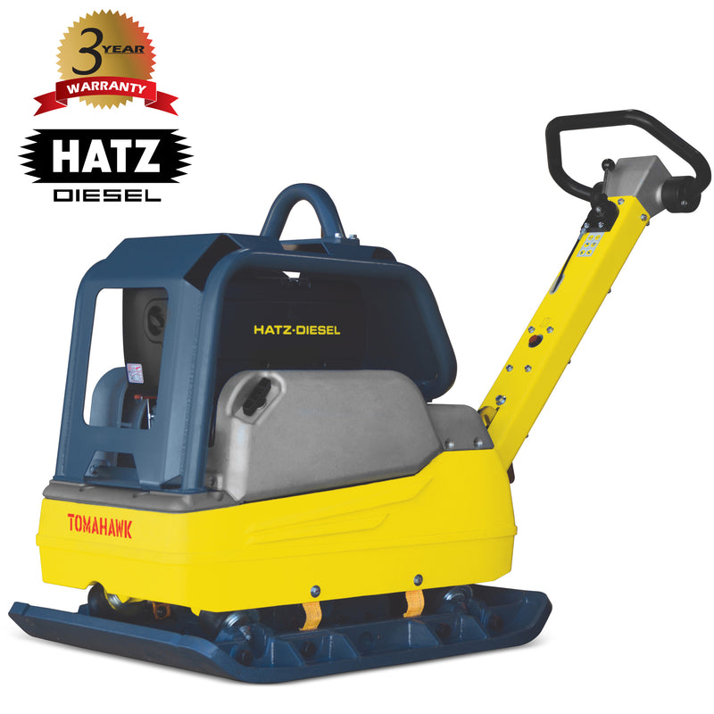 9.8 HP Hatz Diesel Hydraulic Reverse Plate Compactor Aggregate Trench Compaction - Tomahawk Power