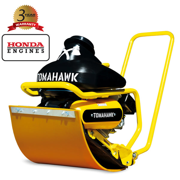 5.5 HP Honda Plate Compactor for Asphalt Aggregate Brick Compaction with Pad - Tomahawk Power