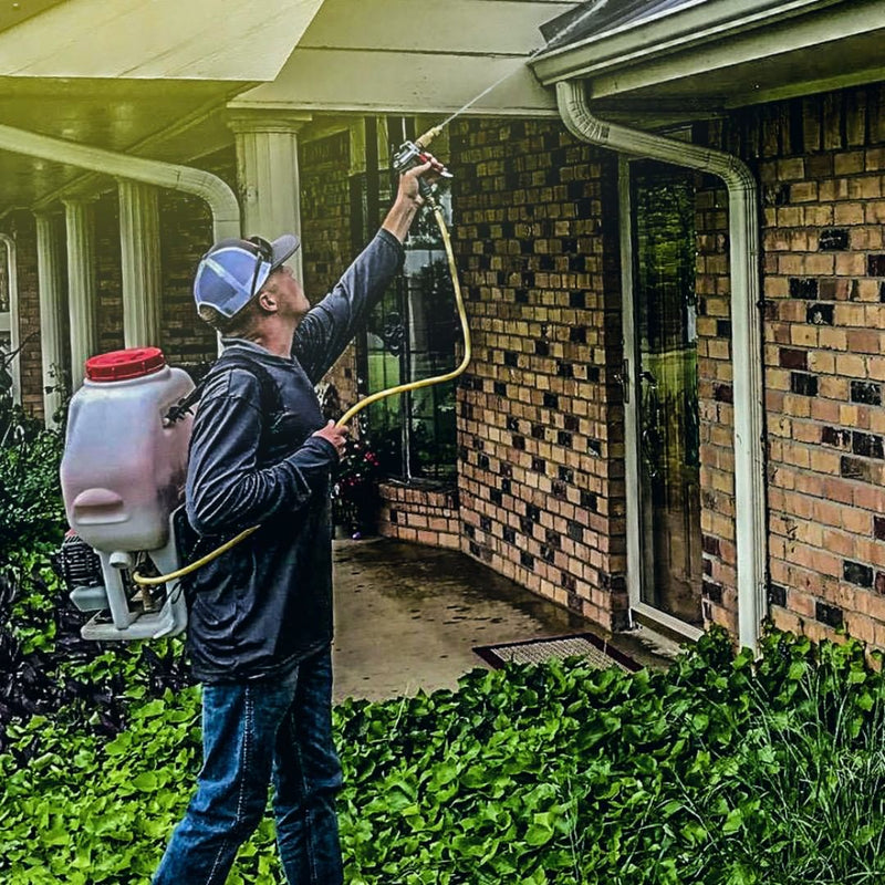 Foundation Gun with 6.6 Gallon Gas Power Backpack Sprayer - Tomahawk Power