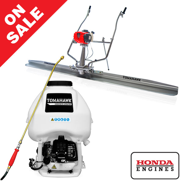 Honda Concrete Finishing Bundle - Screed + Concrete Sprayer - Tomahawk Power