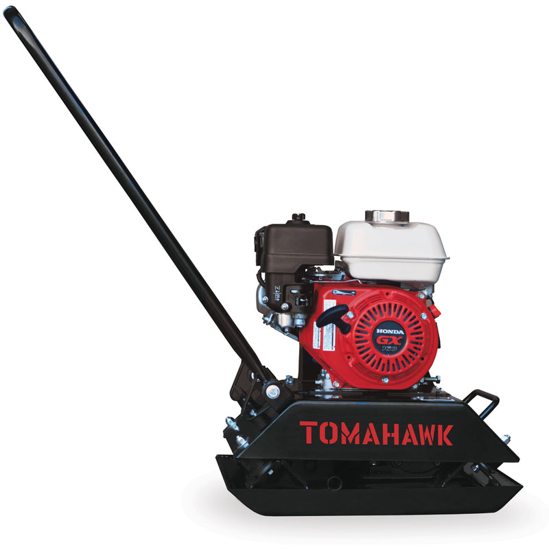 5.5 HP Honda Powered Gas Plate Compactor Tamper for Asphalt, Soil Compaction - Tomahawk Power