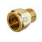 "1/2"" Adapter Metric Thread Female to NPT Thread Male for Plumbing Hoses Fittings"