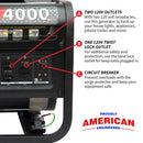 4000 Watt Gas Powered Portable Generator