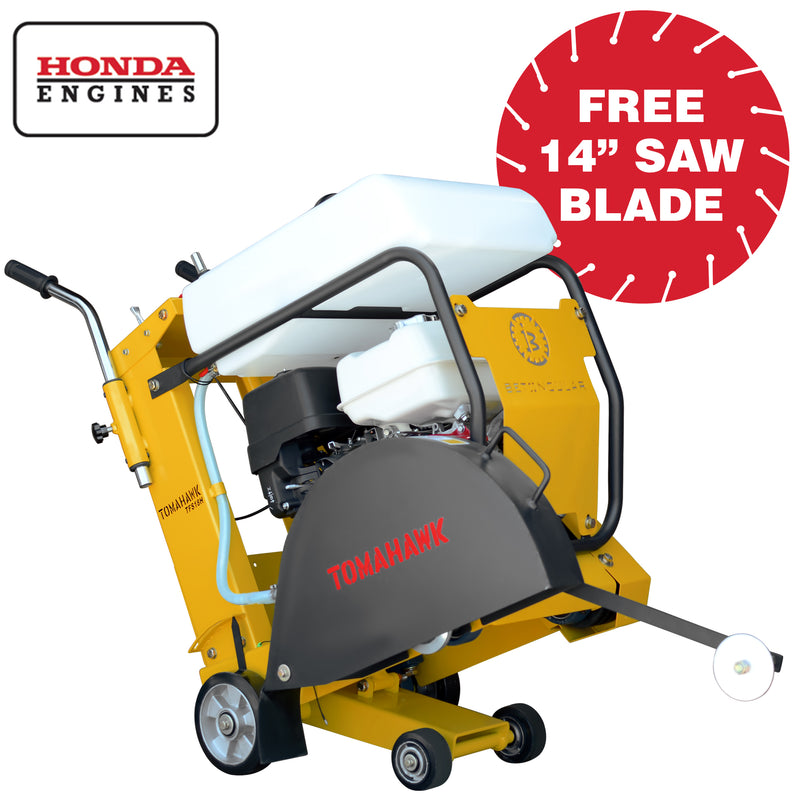 18 in. 13 HP Honda Walk Behind Concrete Saw for Asphalt Concrete Cutting