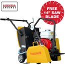 14 in. 6.5 HP Honda Walk Behind Concrete Saw for Asphalt Concrete Cutting