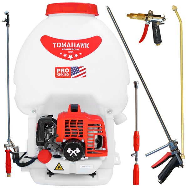 5 Gallon Gas Backpack Sprayer 450 PSI Pump with Accessory Bundle