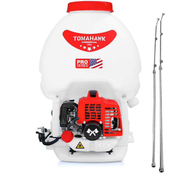 5 Gallon Gas Backpack Sprayer with Dual Wands and 450 PSI Pump for Mosquitoes Pesticides