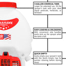 Factory Reconditioned 5 Gallon Gas Power Backpack Pesticide/Disinfectant Sprayer