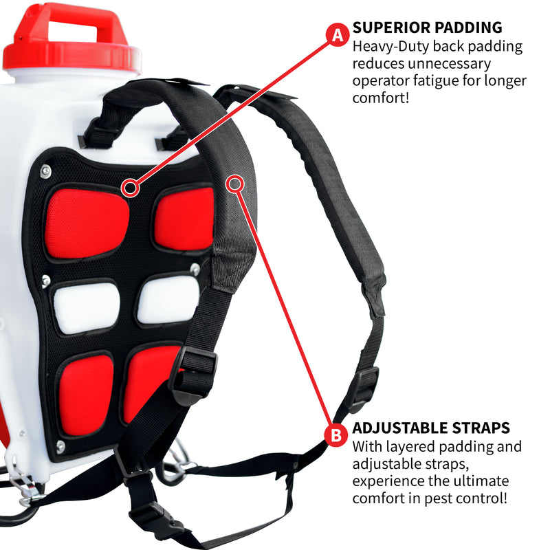 4 Gallon 21 Volt Battery Powered Backpack Sprayer for Pest Control and Disinfectants