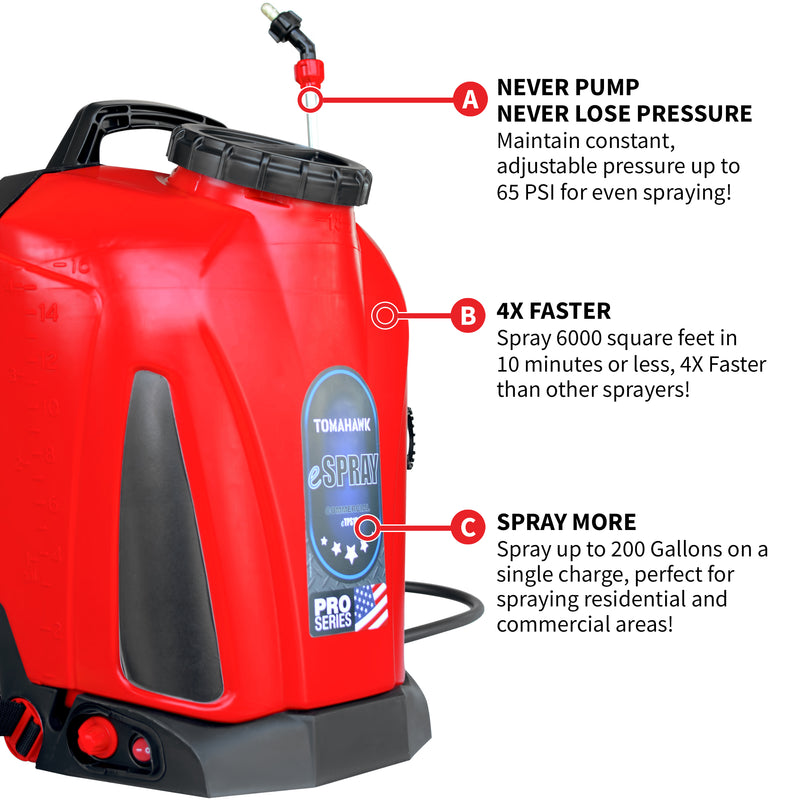 4.75 Gallon Battery Powered Backpack Sprayer for Pest Control and Disinfectants