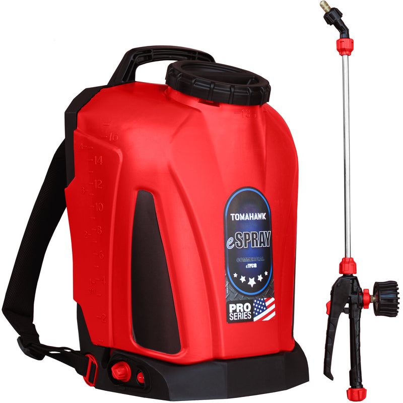 4 Gallon Battery Backpack Sprayer Lithium Powered Electric Operated for Weeds Disinfectant Yard Garden