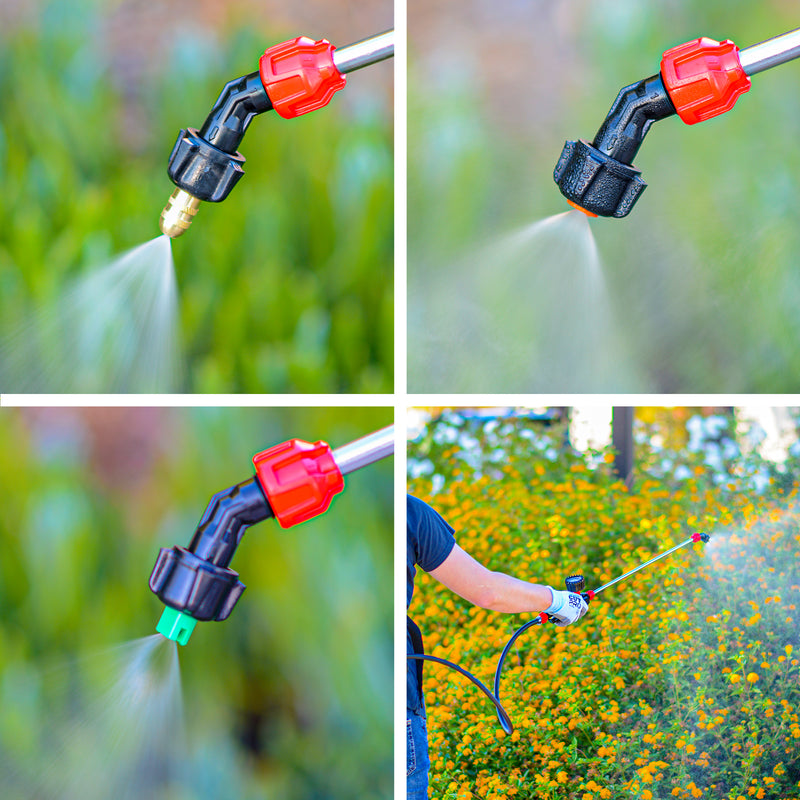 4 Gallon Battery Backpack Sprayer Lithium Powered Electric Operated for Weeds Disinfectant Yard Garden with Fogger Gun