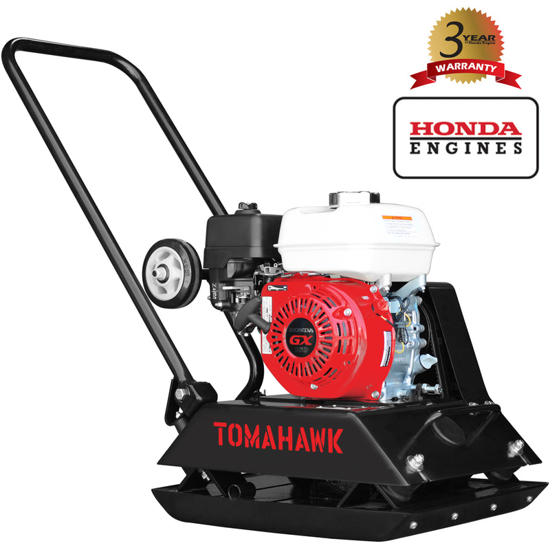5.5 HP Honda Powered Gas Plate Compactor Tamper for Asphalt, Soil Compaction