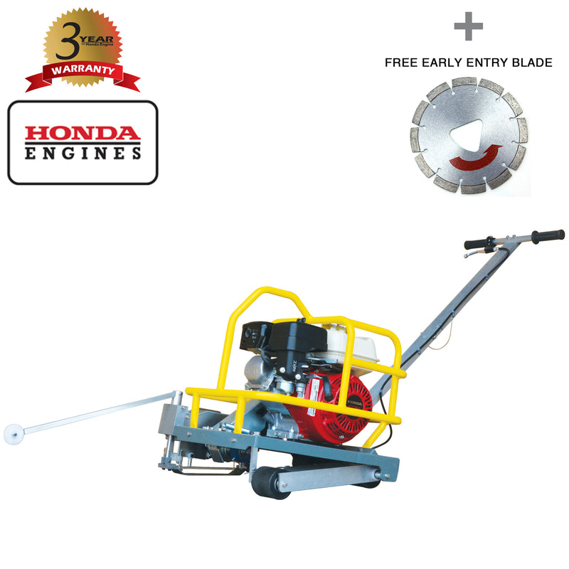 "6"" Early Entry Green Concrete Saw with 3.5 HP Honda GX120 Engine"