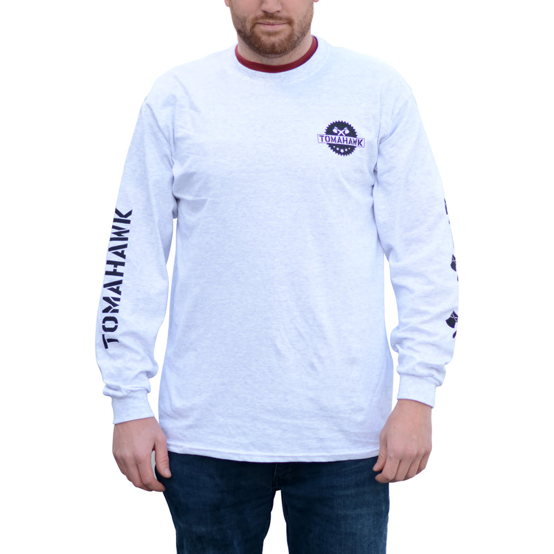 Tomahawk Ash Grey Heavy Cotton 5.3 oz. Long-Sleeve T-Shirt