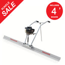 4ft Aluminum Blade Board 37.7cc Gas Vibrating Concrete Power Screed Finishing Float Tool