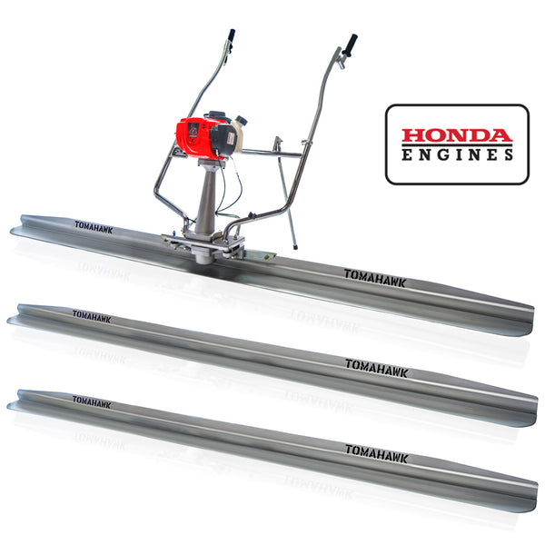 Tomahawk Pro Series Honda Power Screed Three Magnesium Blade Bundle