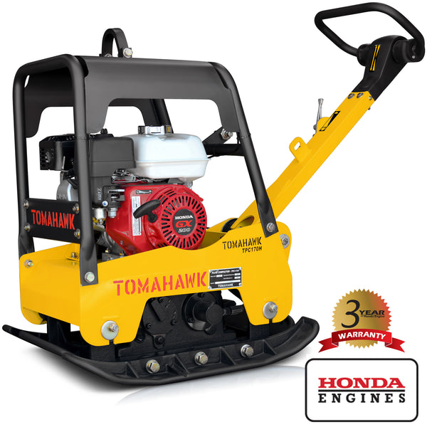 6.5 HP Honda Reverse Hydraulic Plate Compactor for Asphalt, Aggregate, Cohesive Soil Compaction