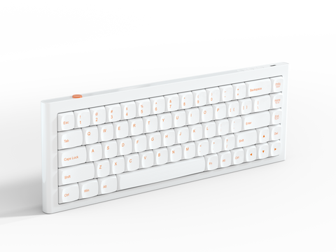 RKB 68 Bluetooth mechanical keyboard(ORANGE-WHITE)
