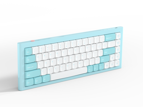 RKB 68 Bluetooth mechanical keyboard(pink-blue)