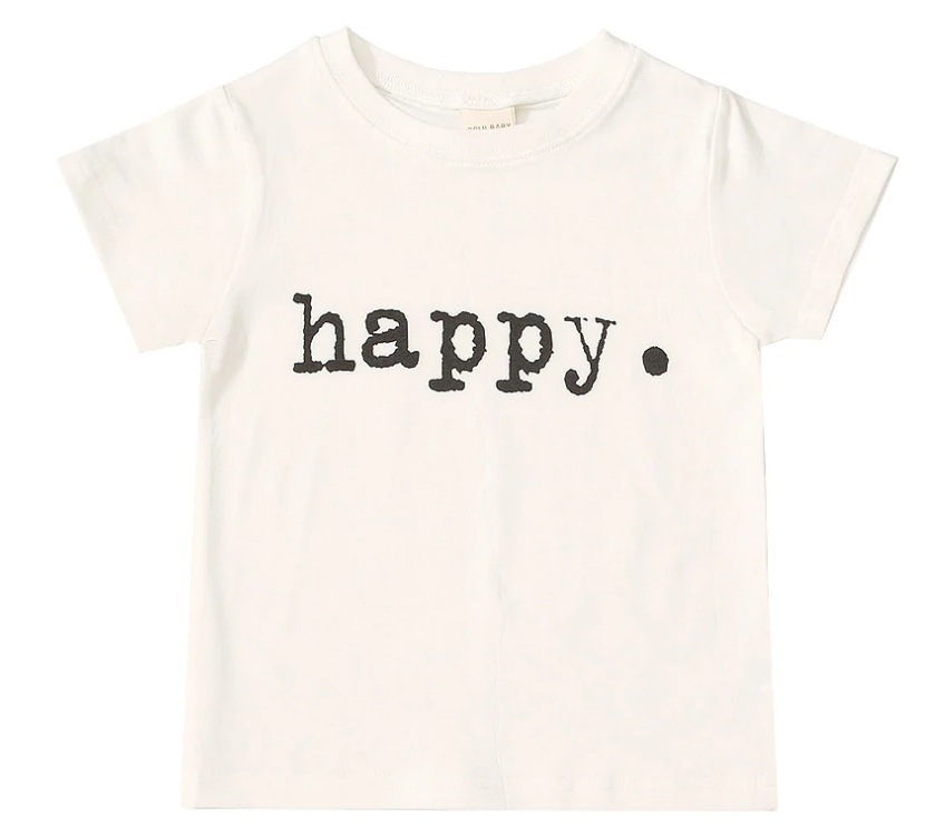'Happy' Tee 12 Months - 6 Years