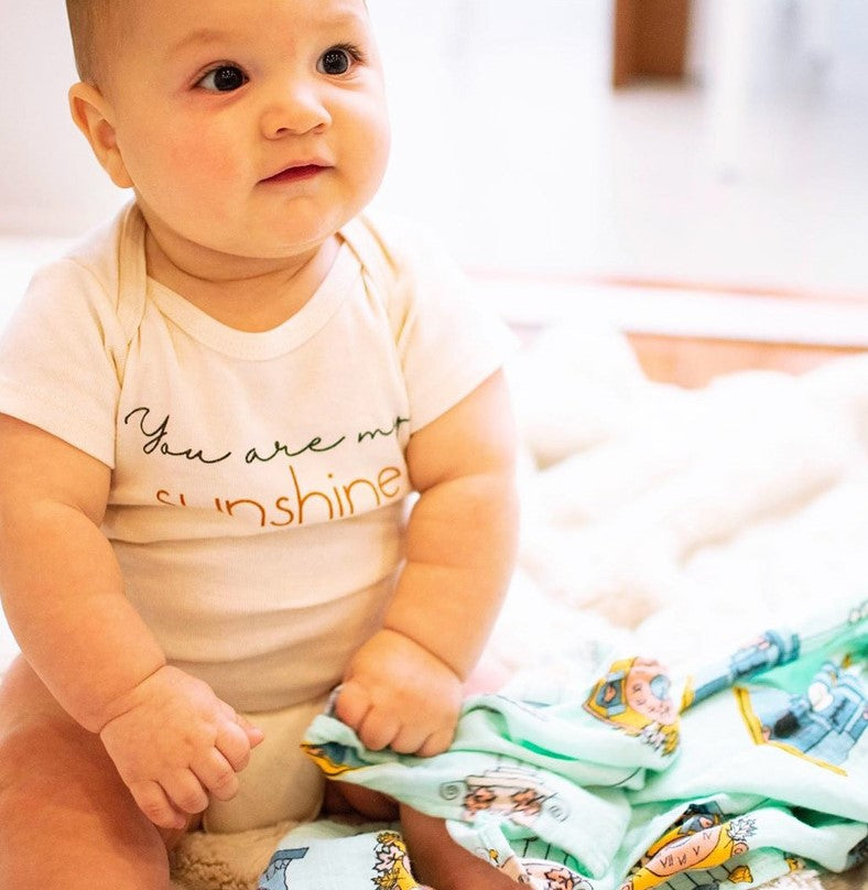 'You are my sunshine' Short Sleeved Babygrow