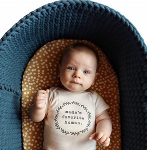 'Mama's favourite human' Baby grow vest