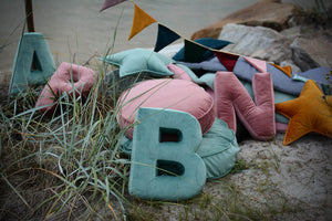 Velvet Letter O Cushion by Betty's Home - Click for colour options!
