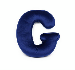 Velvet Letter H Cushion by Betty's Home - Click for colour options!